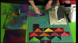 Download Quilting Tutorial - One Seam Flying Geese Quilt Block Video
