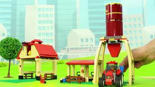 Download Fire Truck, Trains, Tractor, Excavator, Garbage Trucks, Police Cars & Lego Toy Vehicles for Kids Video