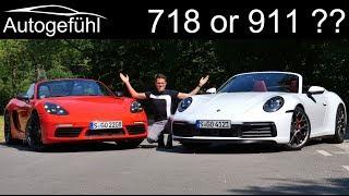 Download Porsche 718 or 911 ? The comparison! New Porsche 911 4S Cabriolet vs 718 Boxster T Video