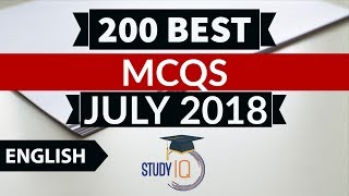 Download 200 Best current affairs JULY 2018 in English Set 1 - IBPS PO/SSC CGL/UPSC/KVS/IAS/RBI Grade B 2018 Video