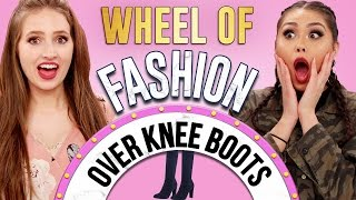 Download HOW TO WEAR OVER THE KNEE BOOTS?! | Wheel of Fashion w/ Roxette Arisa & Courtney Randall Video