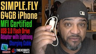 Download SIMPLE.FLY MFI Certified for iPhone Flash Drive 64GB 🔌 : LGTV Review Video