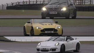 Download Porsche GT3, Aston Martin V12 Vantage S, Mercedes C63 AMG Black Series - /CHRIS HARRIS ON CARS Video