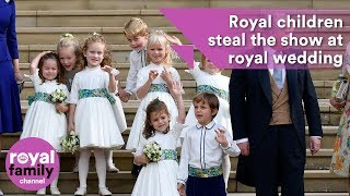 Download Royal children steal the show at Princess Eugenie's wedding Video