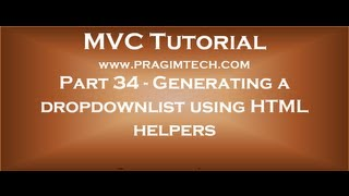 Download Part 34 Generating a dropdownlist control in mvc using HTML helpers Video