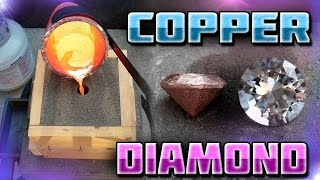 Download Making Diamond Shaped Paperweight Out of Copper Start to Finish Video