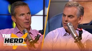 Download Urban Meyer joins Colin to talk Tua Tagovailoa and Michigan's must-win mentality | CFB | THE HERD Video