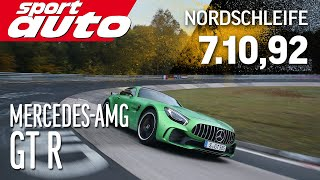 Download Mercedes-AMG GT R 7.10,92 min Nordschleife HOT LAP sport auto World's Exclusive First Test Video