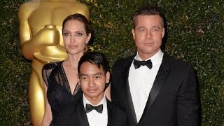 Download Brad Pitt and Angelina Jolie's Son Maddox Reportedly Stepped In During Plane Fig Video
