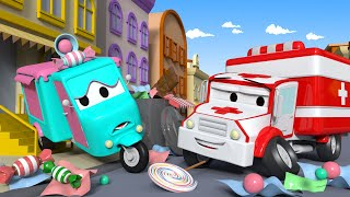 Download Carrie the Candy Car ! - Amber the Ambulance in Car City l Cartoons for Children Video
