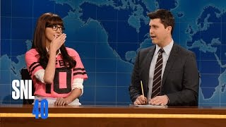 Download Weekend Update: One-Dimensional Female Character On The Super Bowl - SNL Video