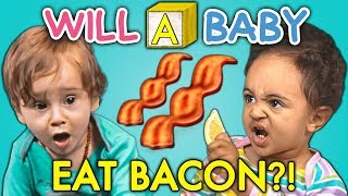 Download Will A Baby...EAT BACON For The FIRST TIME? Video