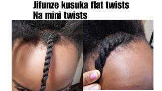 Download NYWELE//Namna ya kusuka flat twists na minitwists Video