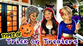 Download Types of Trick or Treaters - Halloween Candy Funny Skits // GEM Sisters Video