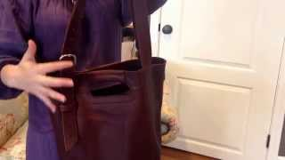 Download Leather Bucket Tote-love41 Video