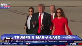 Download WATCH: Donald Trump & Melania Trump REUNITE in Florida for Mar-A-Lago Weekend as Crowds Cheer (FNN) Video