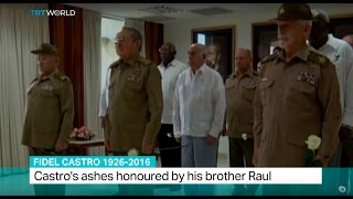 Download Fidel Castro 1926-2016: Castro's ashes honoured by his brother Raul Video