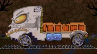 Download truck | lorry | car garage | car formation | scary video for children | hello its halloween Video