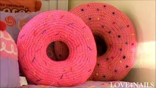 Download How To Crochet A Yummy Large Donut Pillow ~ Tutorial Video