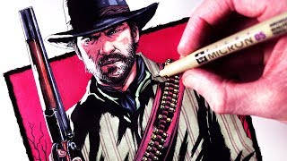 Download Let's Draw RED DEAD REDEMPTION 2 - FAN ART FRIDAY Video