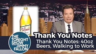 Download Thank You Notes: 40oz Beers, Walking to Work Video