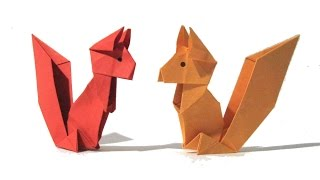 Download Origami Squirrel - Easy Origami Tutorial OLD VERSION - How to make an origami squirrel Video