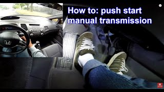 Download How to: roll push start manual transmission Video