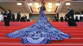 Download Aishwarya Rai Bachchan In Michael Cinco At Cannes 2018 Red Carpet On Her Day 1 Video