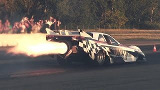 Download 6000hp ″Mach II″ Jet Car In Action - Hills Race Rivanazzano 2014 Video