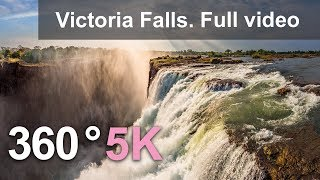 Download 360 video, Victoria Falls, The Pearl of Africa. 5K aerial video in English Video