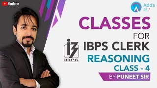 Download IBPS Clerk   Reasoning   Day-4   Puneet Sir   5:15 PM Video