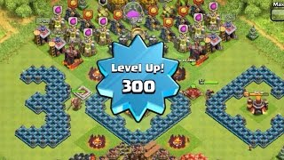 Download Highest/Max Level 300 Player, Capped Exp, Mission Accomplished!!! - Clash of Clans Video
