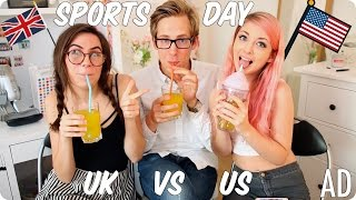 Download Sports Day & Recess! British vs American | Evan Edinger & Dodie Clark & Connie Glynn ft Glasses #AD Video
