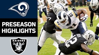 Download Rams vs. Raiders | NFL Preseason Week 2 Game Highlights Video