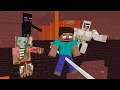 Download Monster School: Slackline Challenge - Minecraft Animation Video