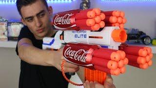 Download NERF WAR: COKE NERF GUN MOD Video