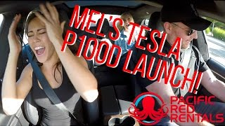 Download TESLA MODEL S P100D LAUNCH REACTION - MEL'S FIRST LAUNCH! Video