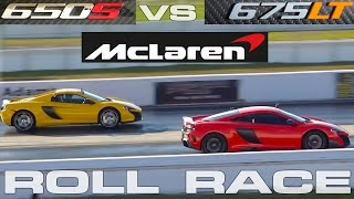 Download McLaren Battle! 675LT vs 650S Racing at StreetCarDrags Event Video