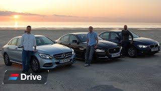 Download BMW 3 Series vs Jaguar XE vs Mercedes C-Class group test Video