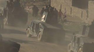Download Raw: Iraqi Troops Inside Mosul As Civilians Flee Video