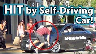 Download Self-Driving Car HITS Pedestrian!! (Prank & Social Experiment) Video