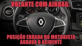 Download Volante com airbag: posição errada do motorista agrava o acidente Video