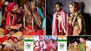 Download 16 Star Indian Cricketers Wedding Moments || Indian Cricketers With Wives Video