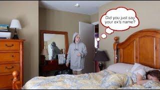 Download I SAID MY EX'S NAME IN MY SLEEP! (PRANK ON BOYFRIEND!) Video