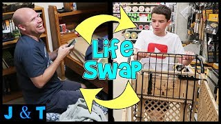 Download Jake and Dad Switch Lives For A Day / Jake and Ty Video