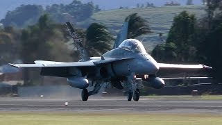 Download F/A-18 Hornets Arrival and 30 knots Crosswind Landing Video