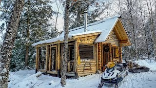 Download Extreme Early Winter at the Cabin in the Woods of Canada Video
