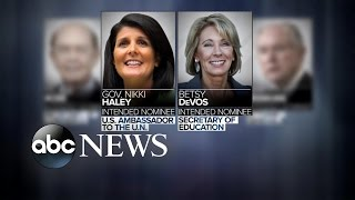 Download Donald Trump Appoints 2 Females in Cabinet Selections Video