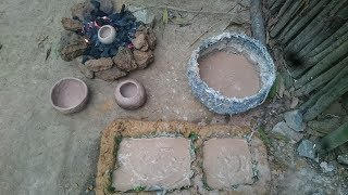 Download Primitive technology:Pottery-Bucket Water For Birds Part1-Primitive life-wilderness Video