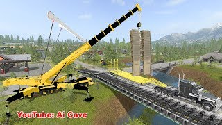 Download How to Build a Bridge in ″Farming Simulator 2017″ with mods. Video